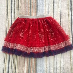 NEW Truly Me Americana Sparkle Tue Skirt